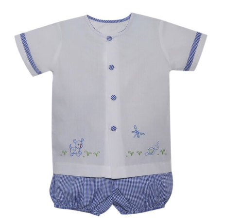 Boys Louis Puppy Bloomer Set
