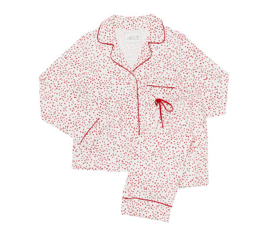 Confetti Dot Pima Knit Pajama Set