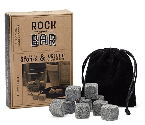 Whiskey Stones and Pouch