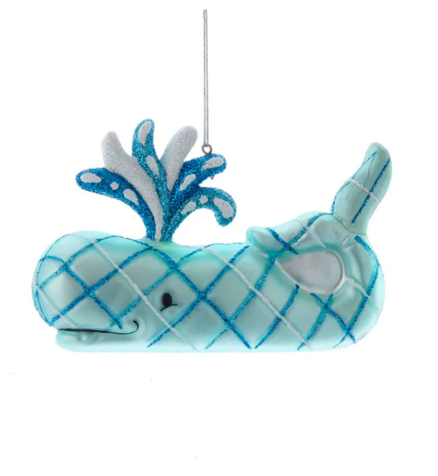 Striped Whale Ornament