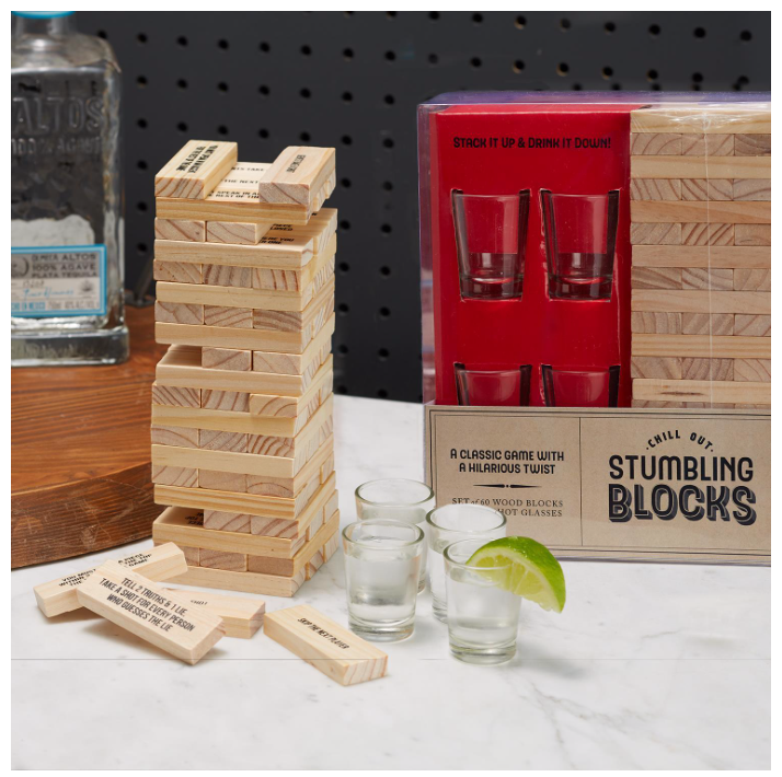 Stumbling Blocks Bar Game