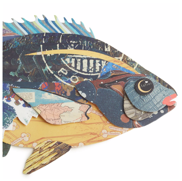 """Plenty of Fish in the Sea"" Paper Collage Wall Art"