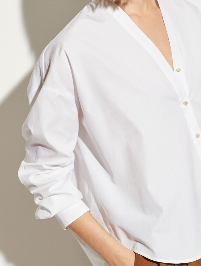 Vince V-neck Button Down Blouse