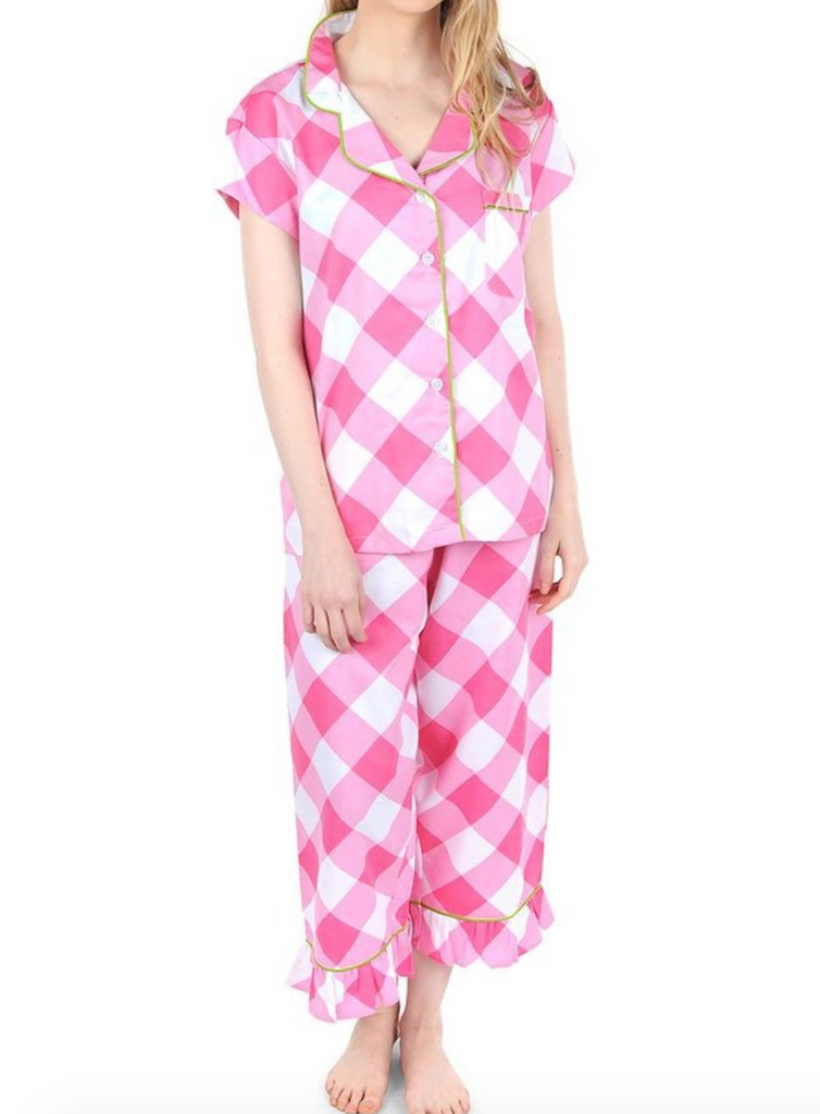 Sateen Capri Pajama Set