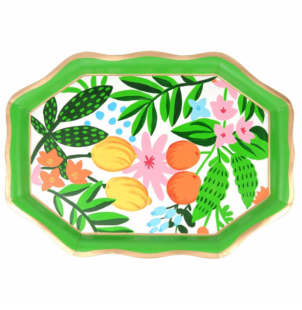 Floral Fruit Tray