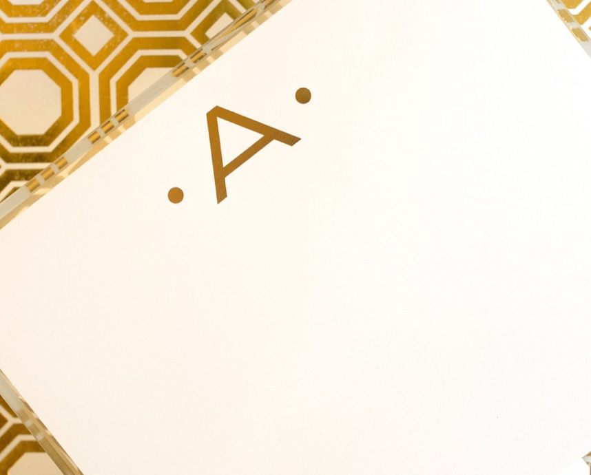 Premium Gold Leaf Initial Notepad