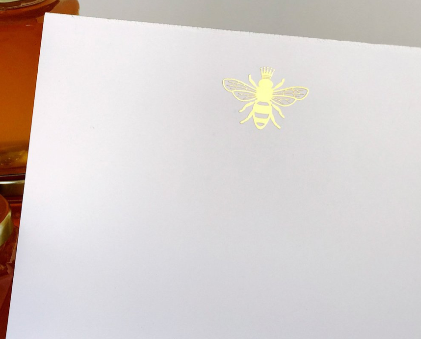 Bee Gold Foil Notepad