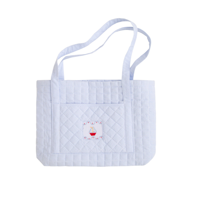 Little English Quilted Tote Bag