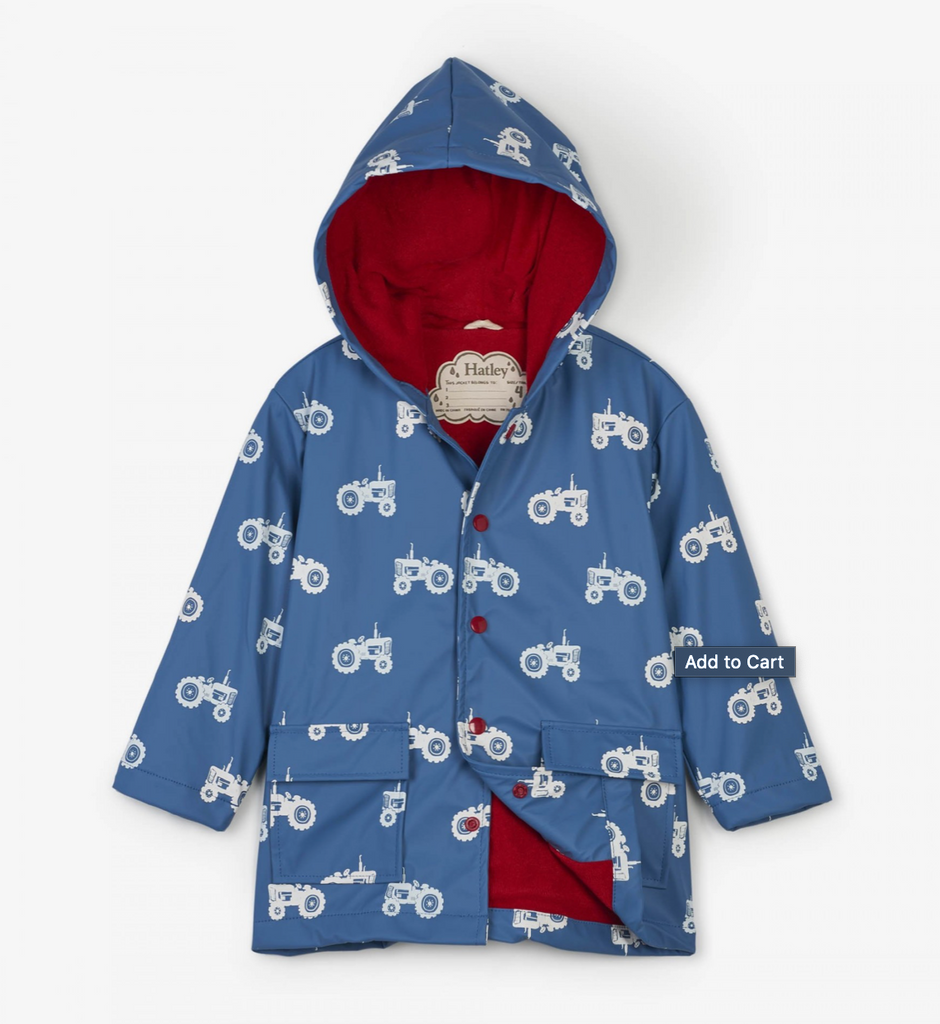 Hatley Color-Changing Tractors Raincoat