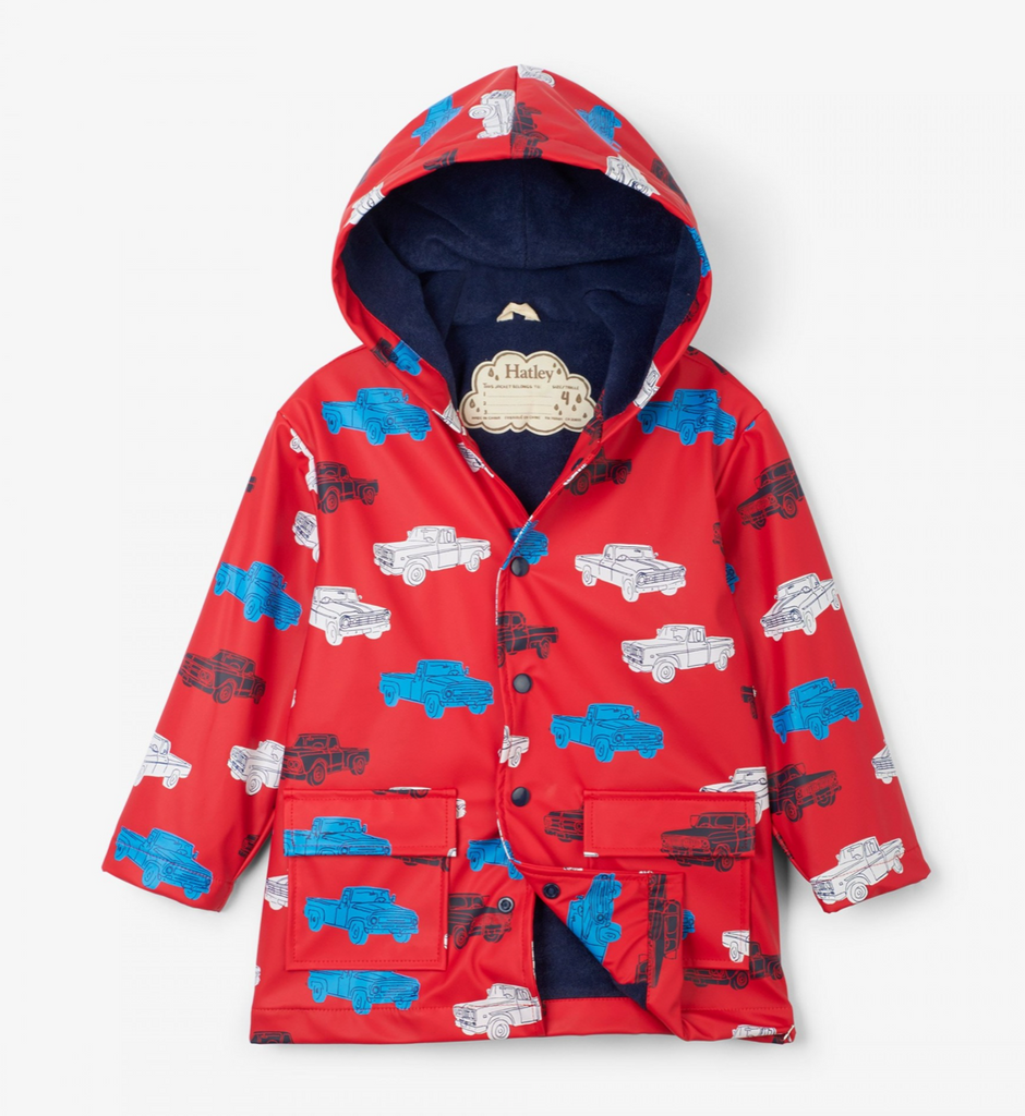 Hatley Pickup Trucks Raincoat