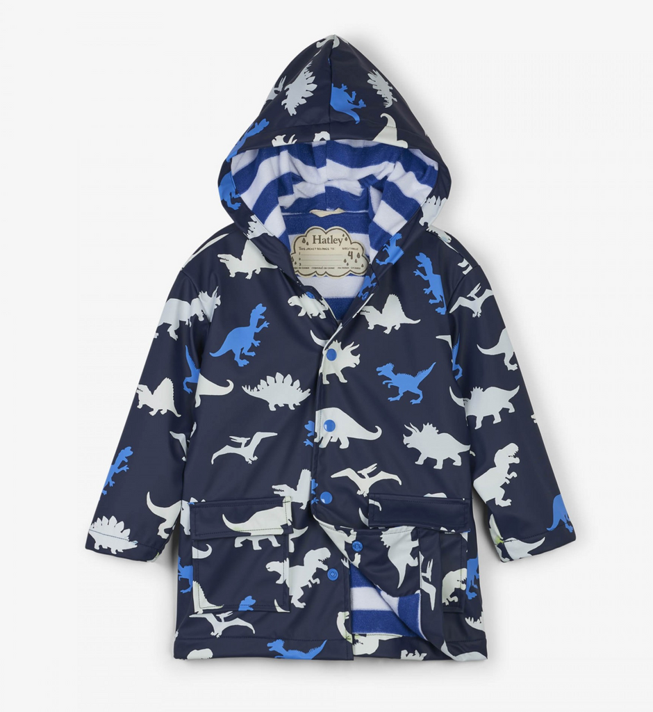 Hatley Dino Herd Color Changing Raincoat