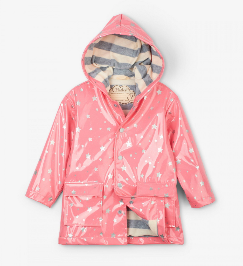 Hatley Metallic Stars Raincoat