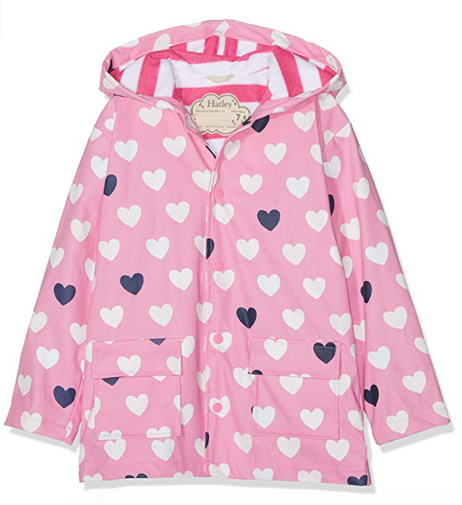 Hatley Color Changing Lovely Hearts Baby Raincoat