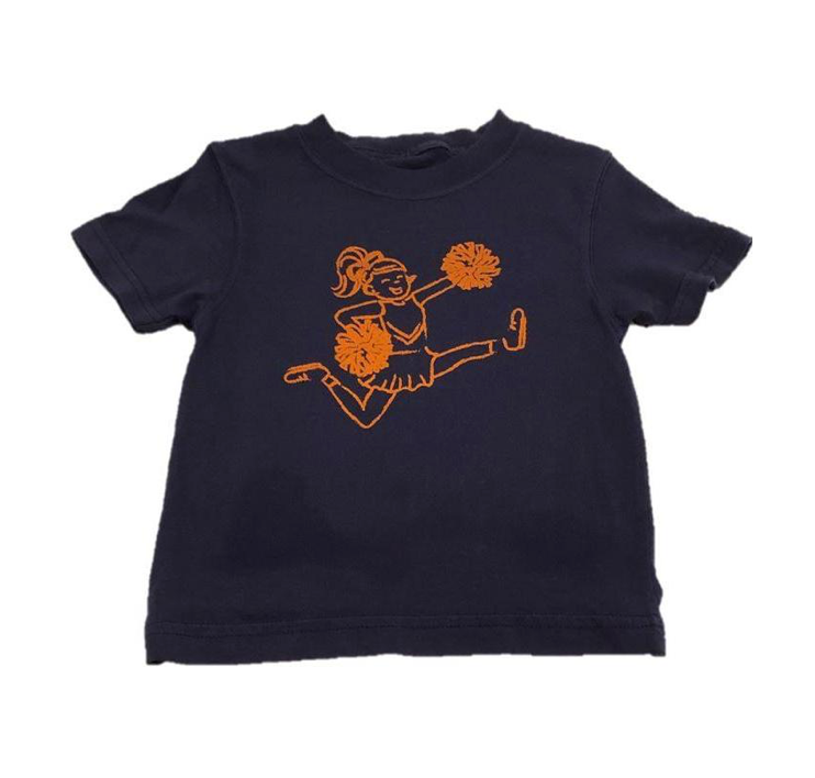 Mustard & Ketchup Kids- Auburn Cheerleader Short Sleeve Tee
