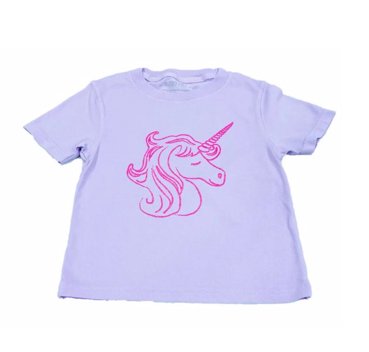 Mustard & Ketchup Kids- Unicorn Light Purple Shirt Sleeve Tee