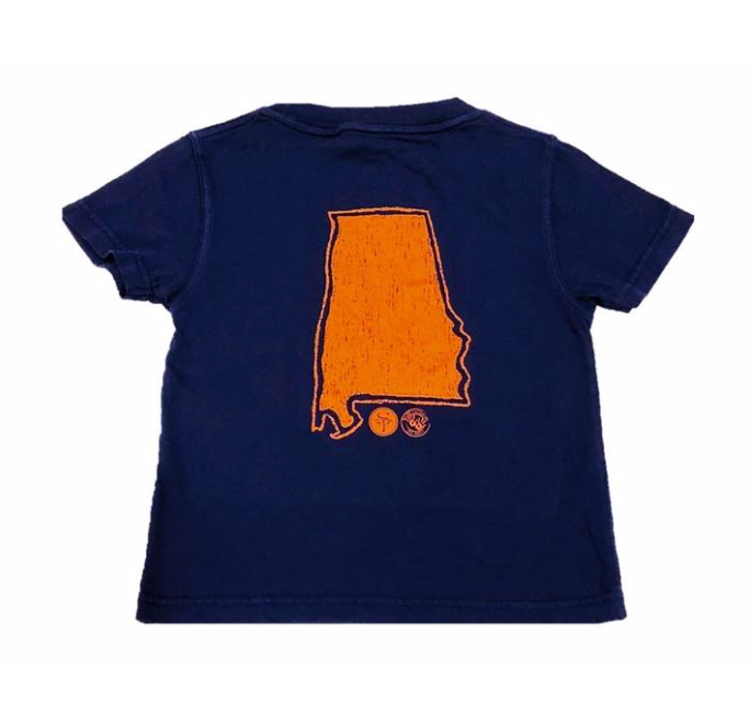 Mustard & Ketchup Kids- State of Alabama Shirt Sleeve Tee