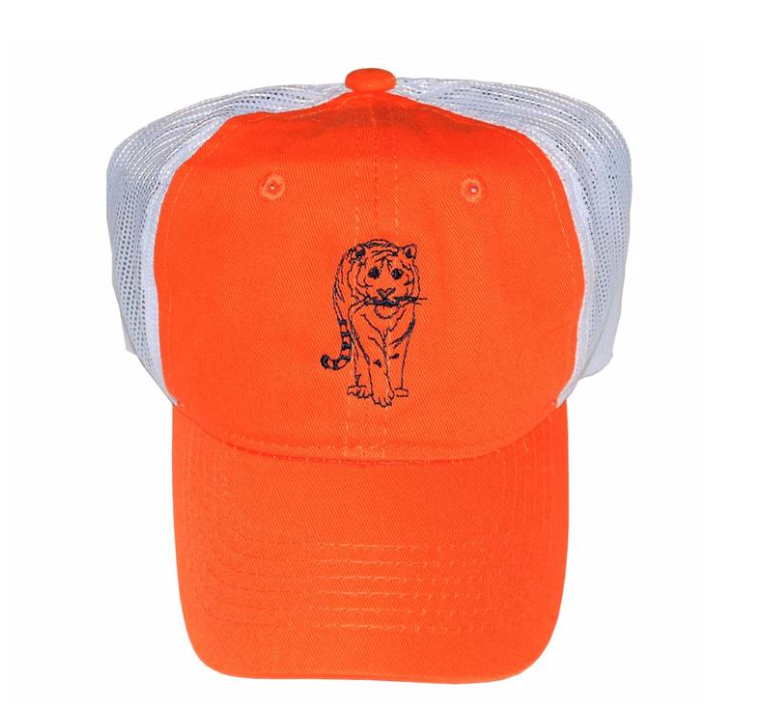Mustard & Ketchup Kids- Blue/Orange Tiger Trucker Hat
