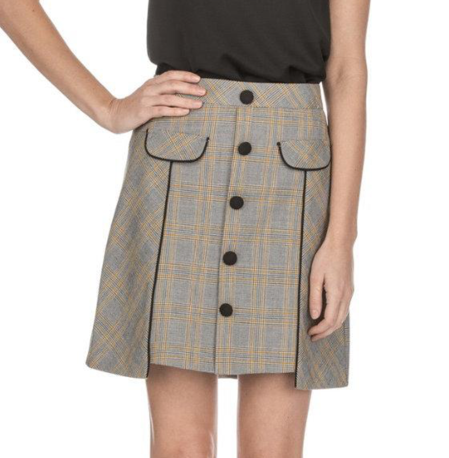 Hound Plaid Skirt