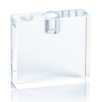 Square Crystal Glass Taper Holder