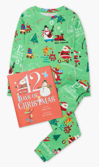 12 Days of Christmas PJ Set w/Book