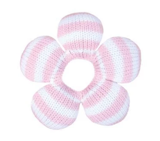 Crochet Flower Rattle 6""