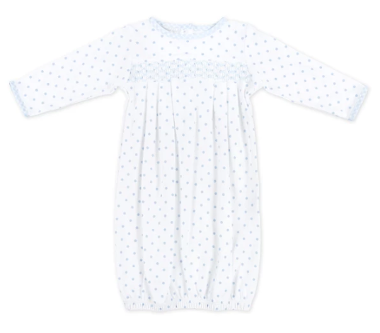 Mini Dot Essentials Smocked Gown