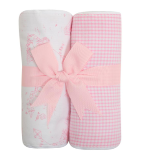 Set of Two Fabric Burp Pads