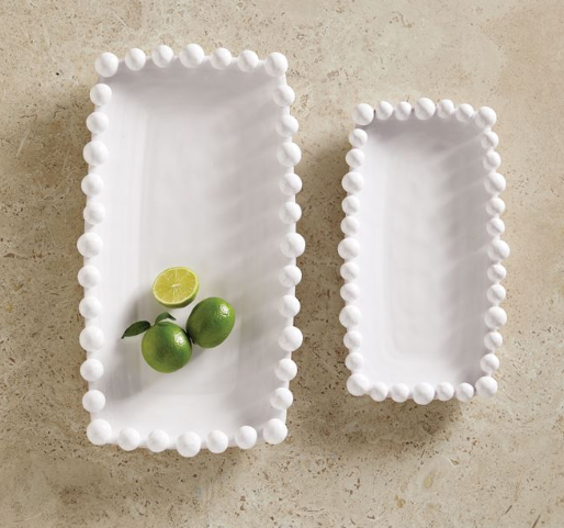 Raised Dotted Rim Nesting Platters