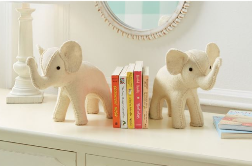Ivory Elephant Bookend