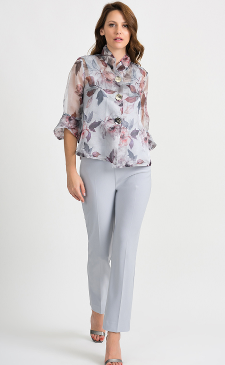 Joseph Ribkoff Sheer Floral Swing Jacket