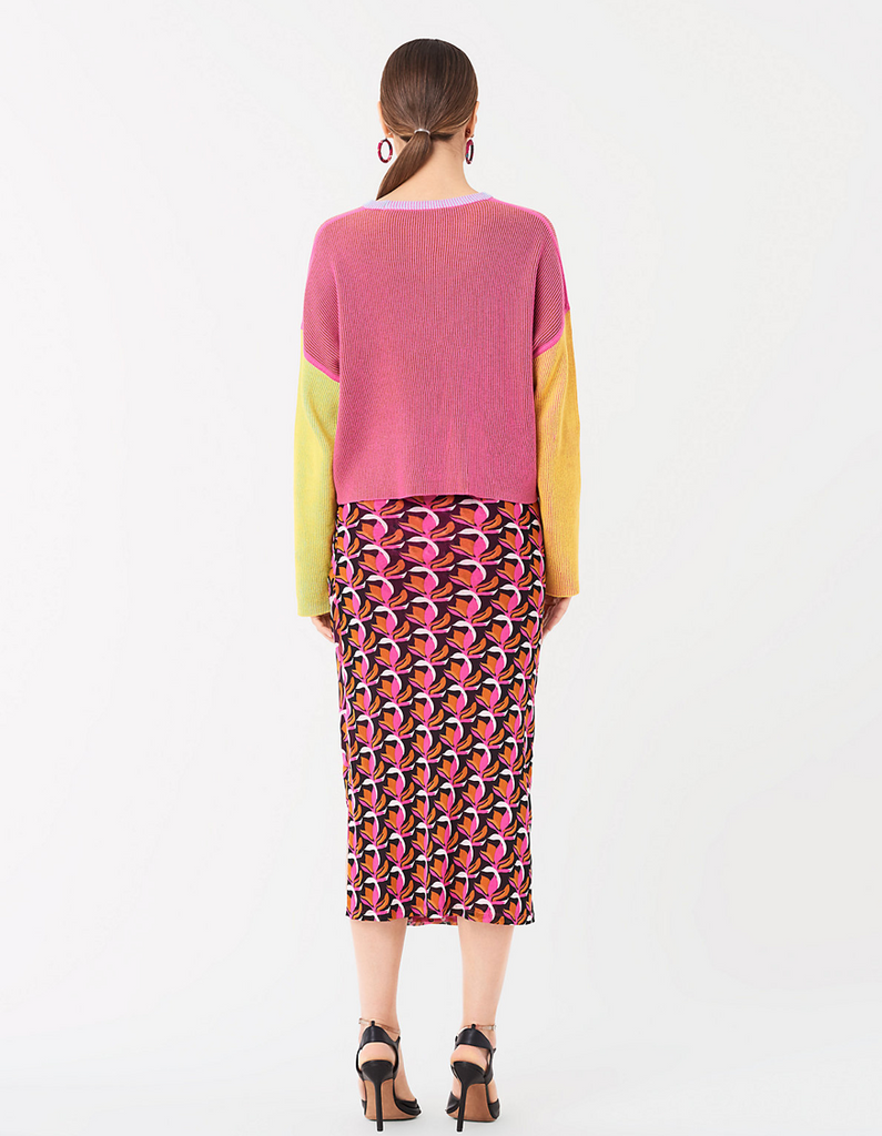 DVF Taimi Reversible Ribbed Cotton Pullover