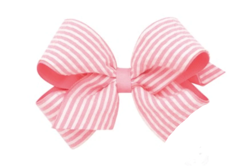 Medium Gingham Grosgrain Bow