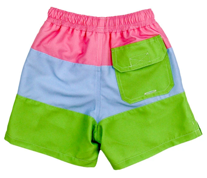 Wide Stripe Board Swim Short