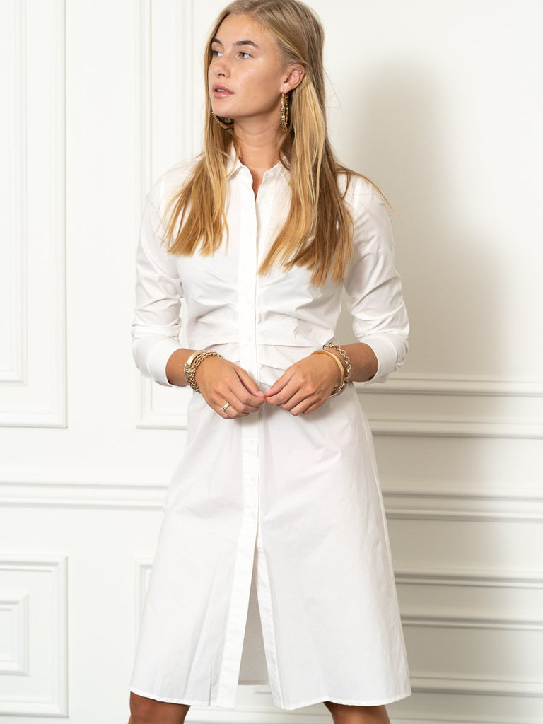 The Ruched Shirtdress