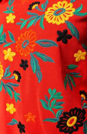 Red Pepper Embroidered Top
