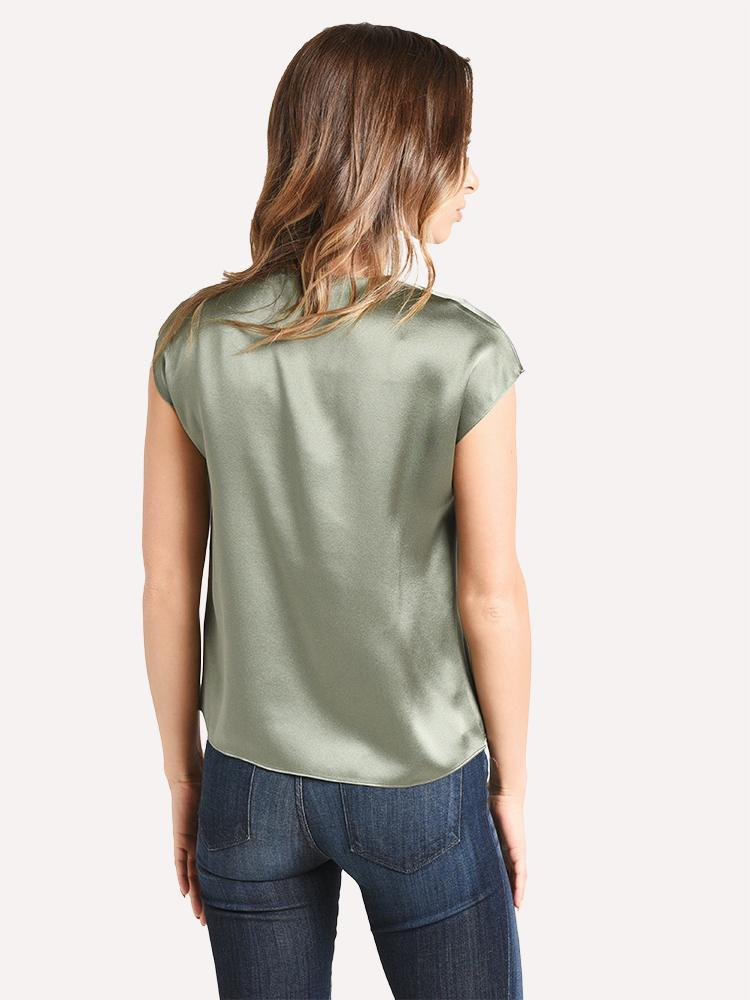 Vince V-neck Drape Blouse