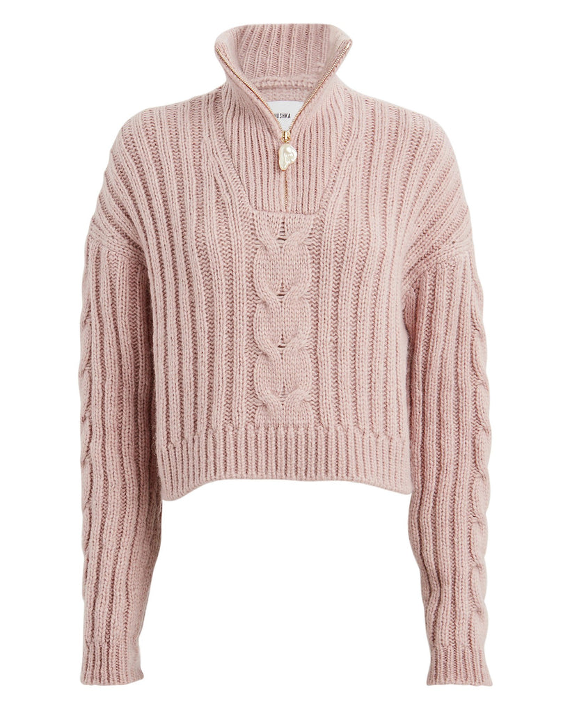 Eria Cropped Cable Knit Sweater