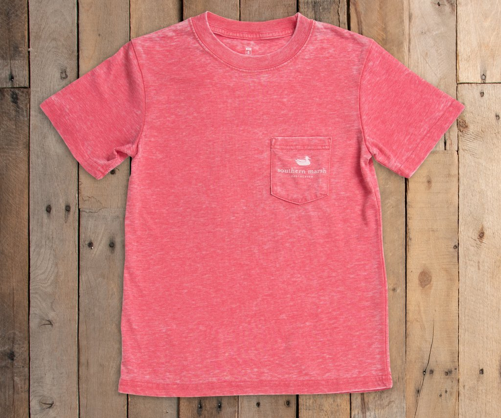 Youth SEAWASH Pocket Front Tee Strawberry Fizz
