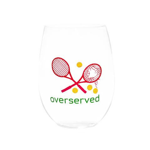 Over-Served Wine Glass