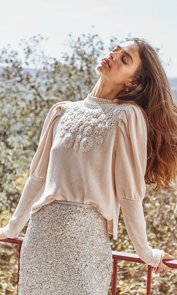 Caty Embroidered Sweater