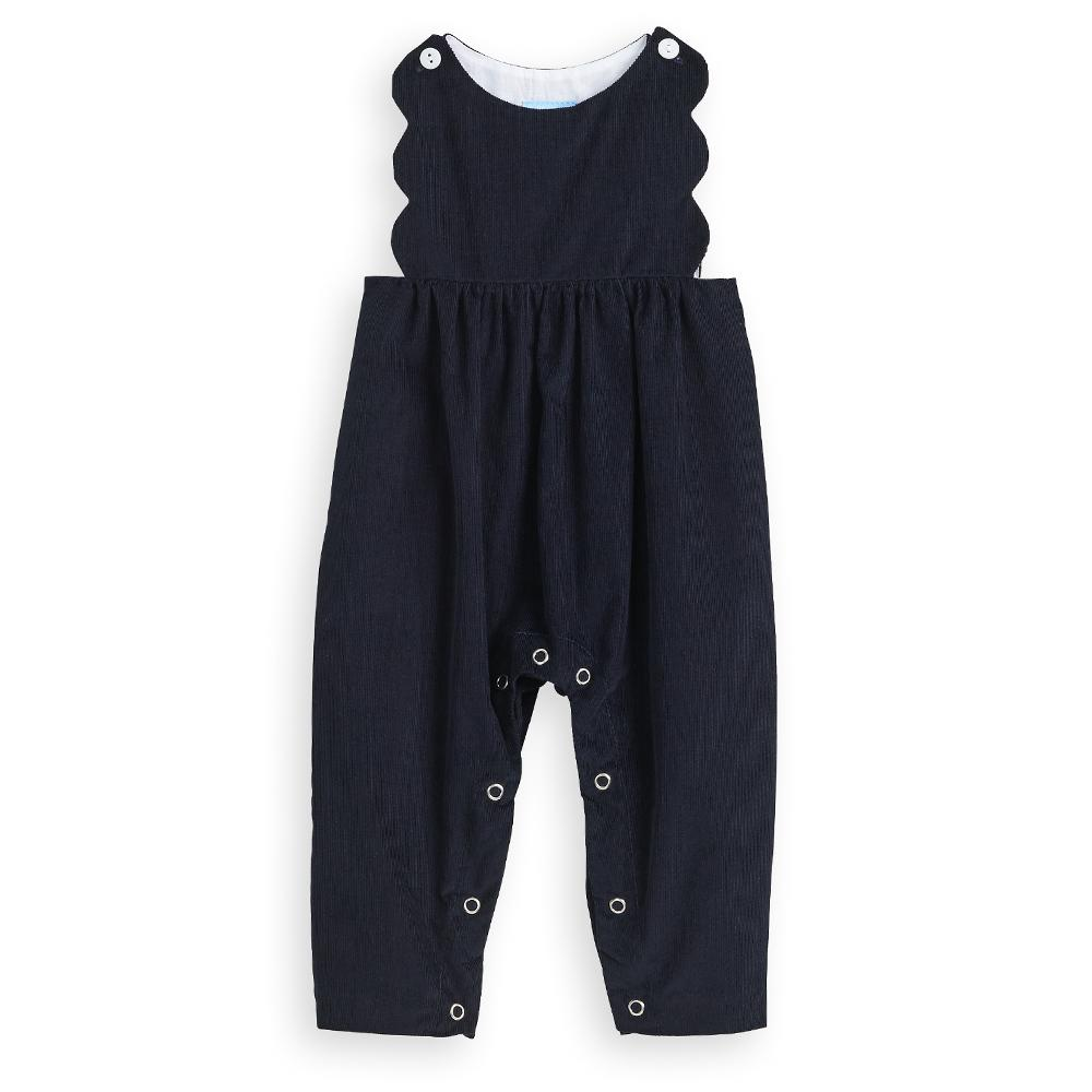 Scalloped Cord Overall