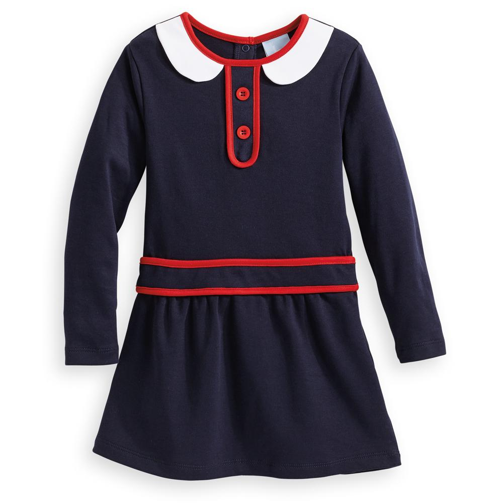 Carly Navy Pima Dress