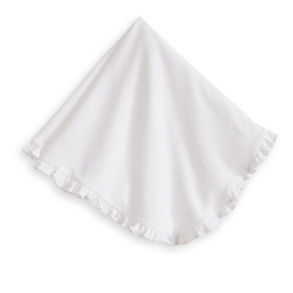 Ruffled Pima Blanket