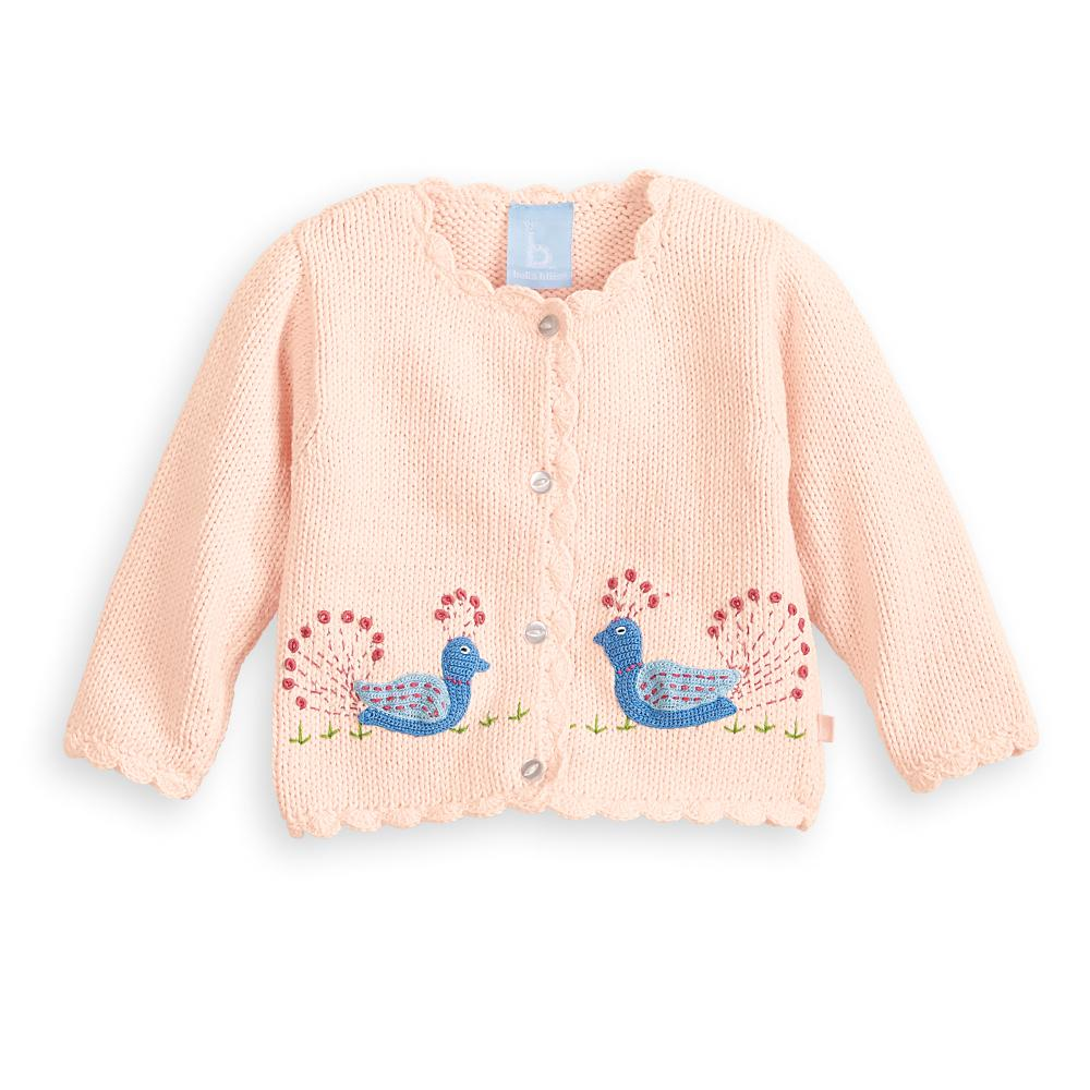 Applique Peacock Cardigan