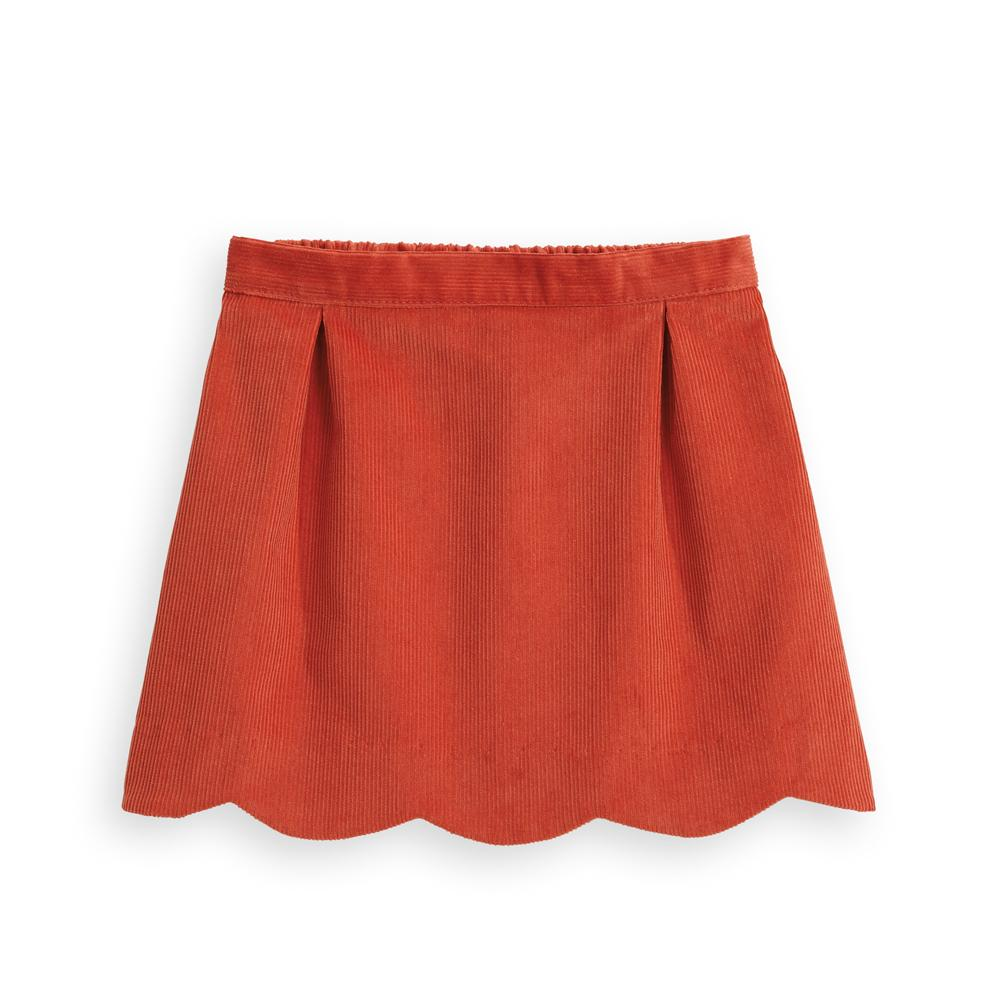 Scalloped Wide Wale Cord Skirt