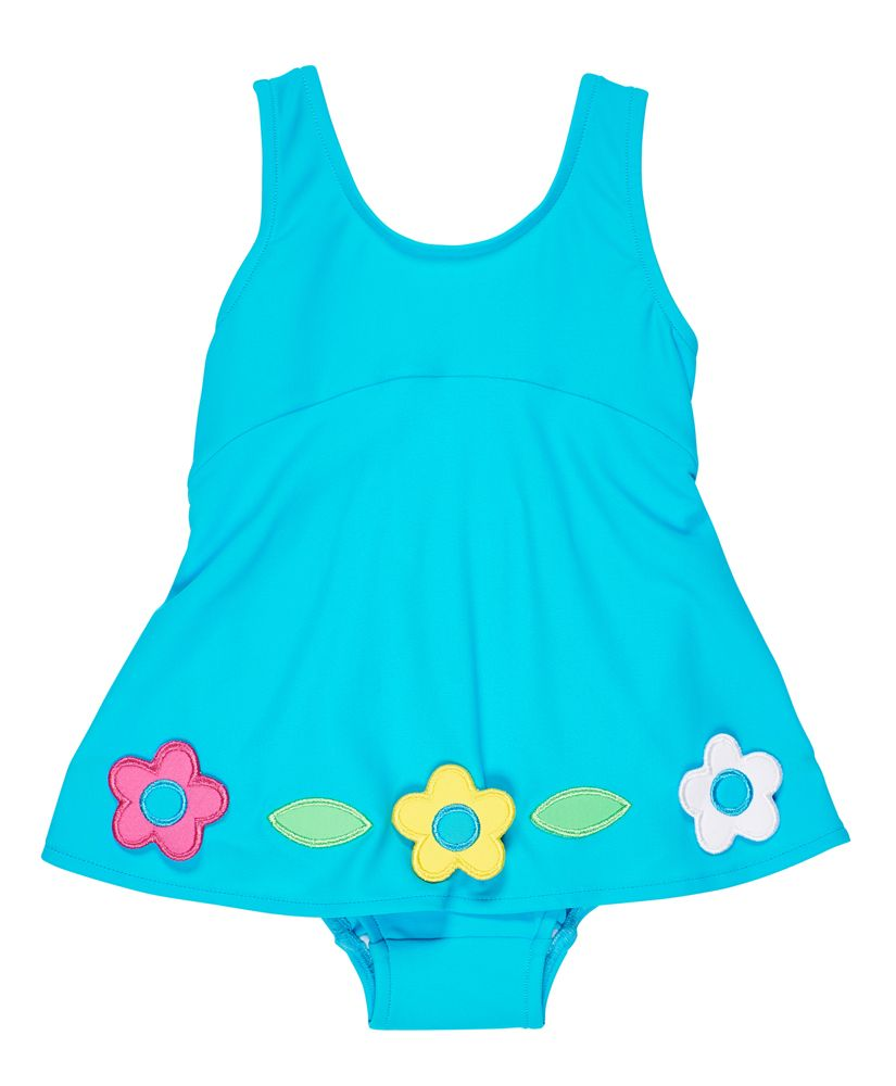 Skirted Swimsuit w/Flowers