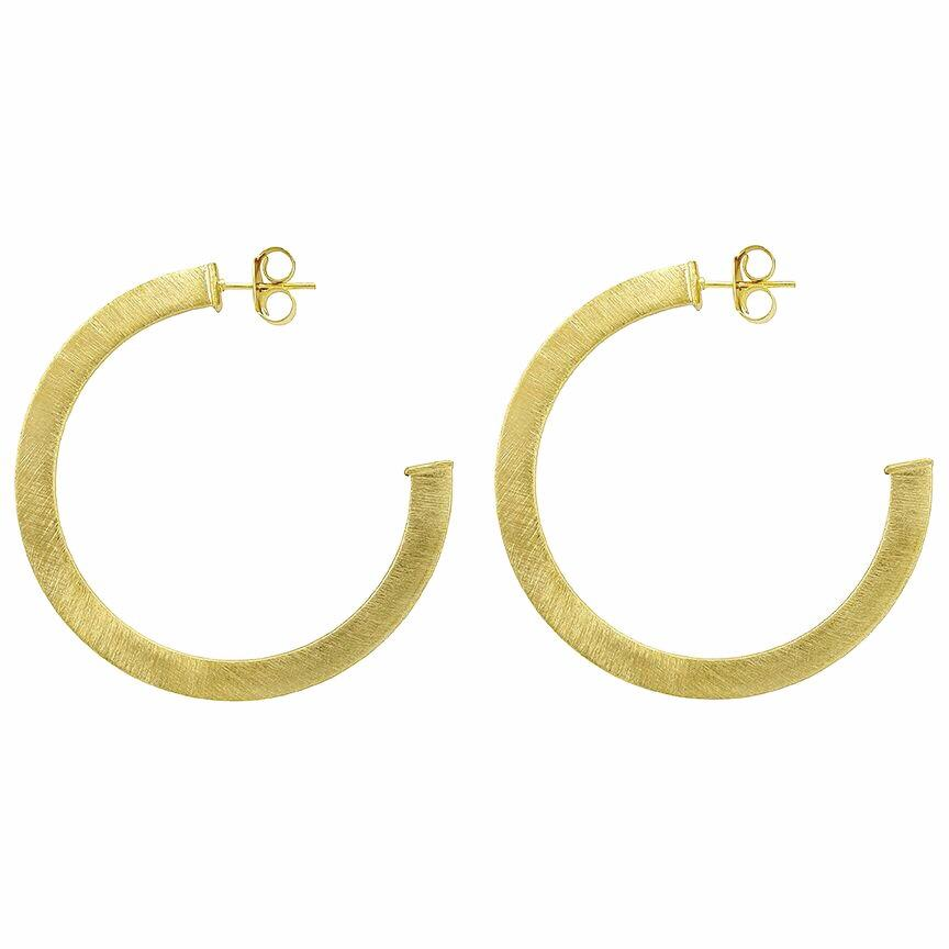Elisa Round Hoop Earrings