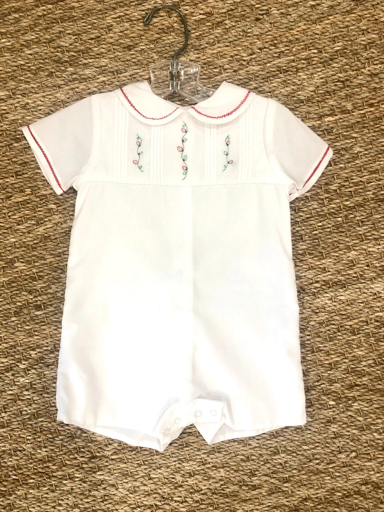 White Outfit with Christmas Embroidery
