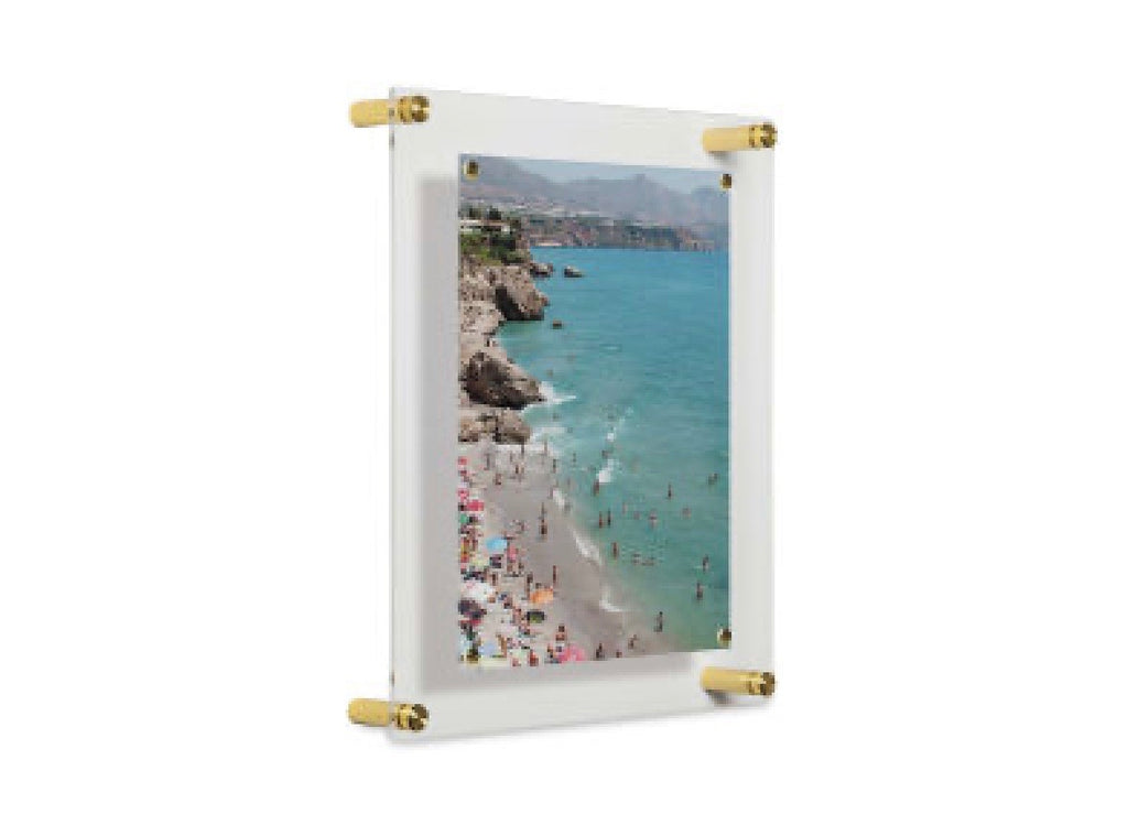 Acrylic and Brass Wall Frame