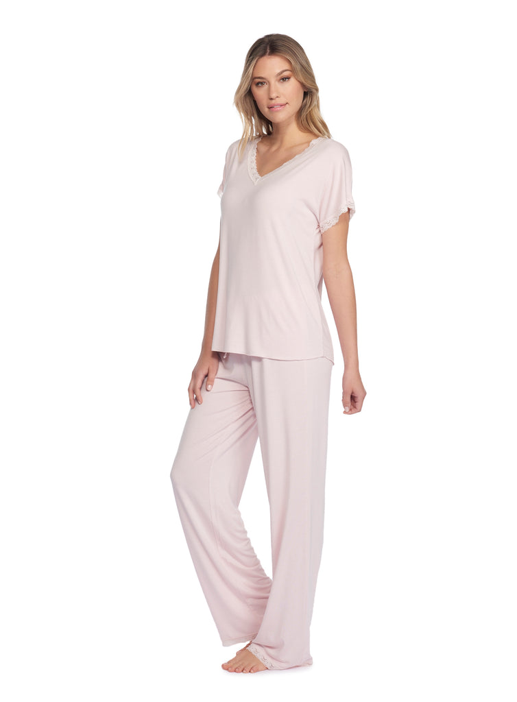 Short Sleeve V-Neck PJ Set